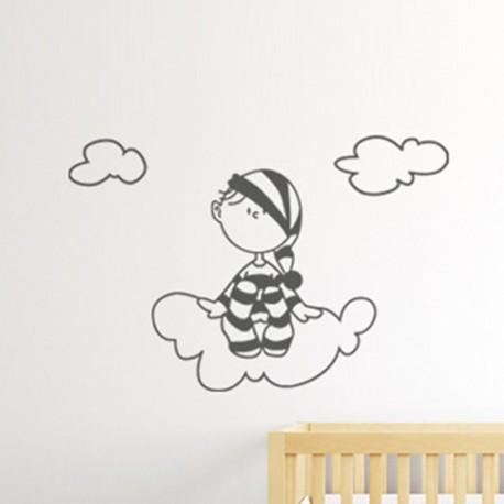Vinilos para bebé Nubes y Pijama