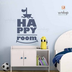 Vinilo happy room barquito