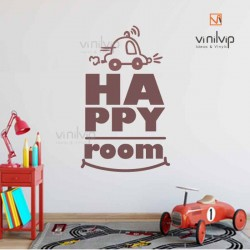 Vinilo happy room cochecito