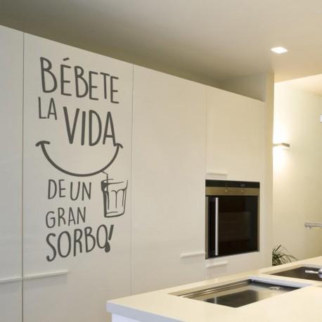 Vinil frase original Bébete