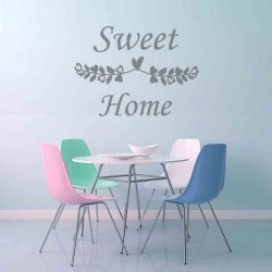 Vinil frases Sweet Home