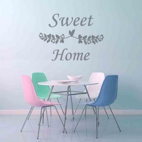 Vinilo frases Sweet Home