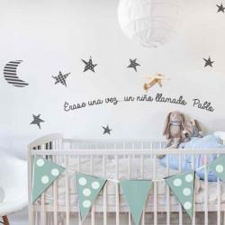 Vinilos gris pablo pared habitacion bebe