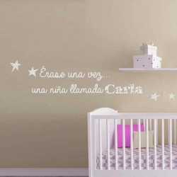 decoracion bebe pared blanco Erase una vez