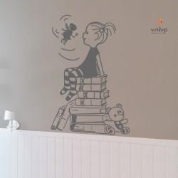 Vinil nena amb llibres i ninfa