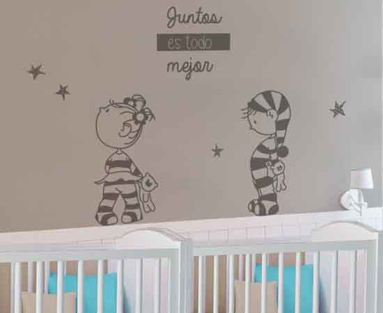Los vinilos bebé para gemelos y mellizos | Blog de Vinilvip