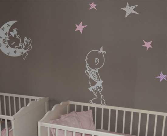 Los vinilos beb para gemelos y mellizos vinilvip - Vinilos para habitacion nina ...