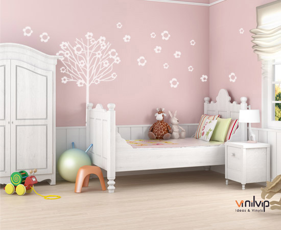 Decorar la pared con vinilos infantiles vinilvip for Pegatinas vinilo pared
