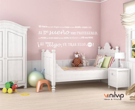 Decorar la pared con vinilos infantiles vinilvip for Vinilo pared habitacion
