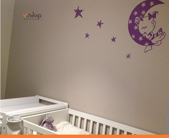 vinilos habitacion bebe para nias y decoraciones malva - Habitacion Bebe Nia