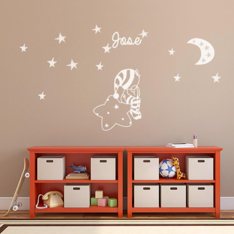 Como decorar la cuna del bebe con vinilos blog de vinilvip for Ideas para decorar paredes infantiles